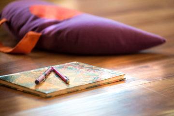 coussin méditation carnet du bonheur